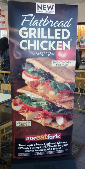 Wendy&#8217;s Flatbread Chicken Sandwich